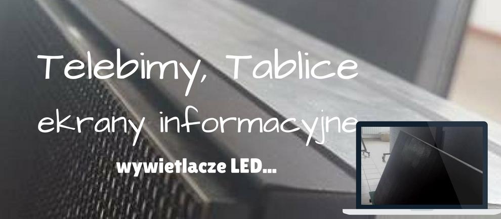 Tablice Telebimy ekrany informacyjne wyświetlacze
