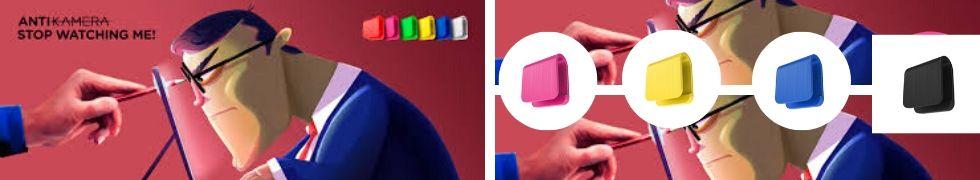 Zasłona kamery internetowej kolory