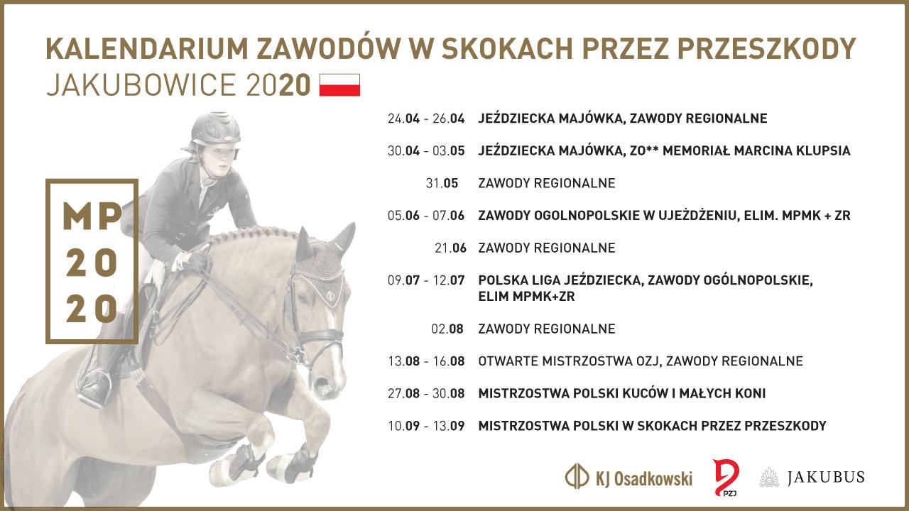 Kalendarium Zawodów JKS Osadkowski 2020