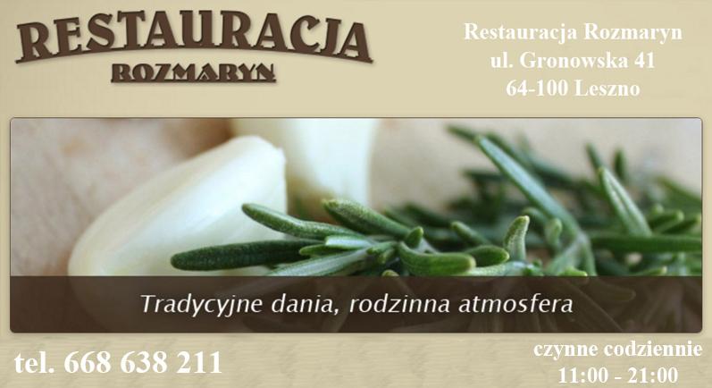 Restauracja ROZMARYN Leszno
